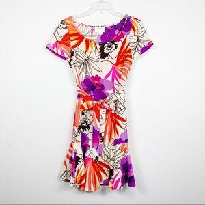 Kate Spade Elliana Floral Silk Dress 2 D318